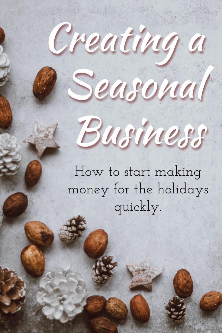 create an online seasonal business