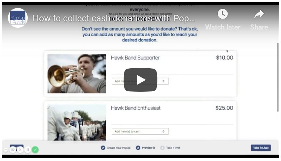 How to Collect Donations with PopUp Funds