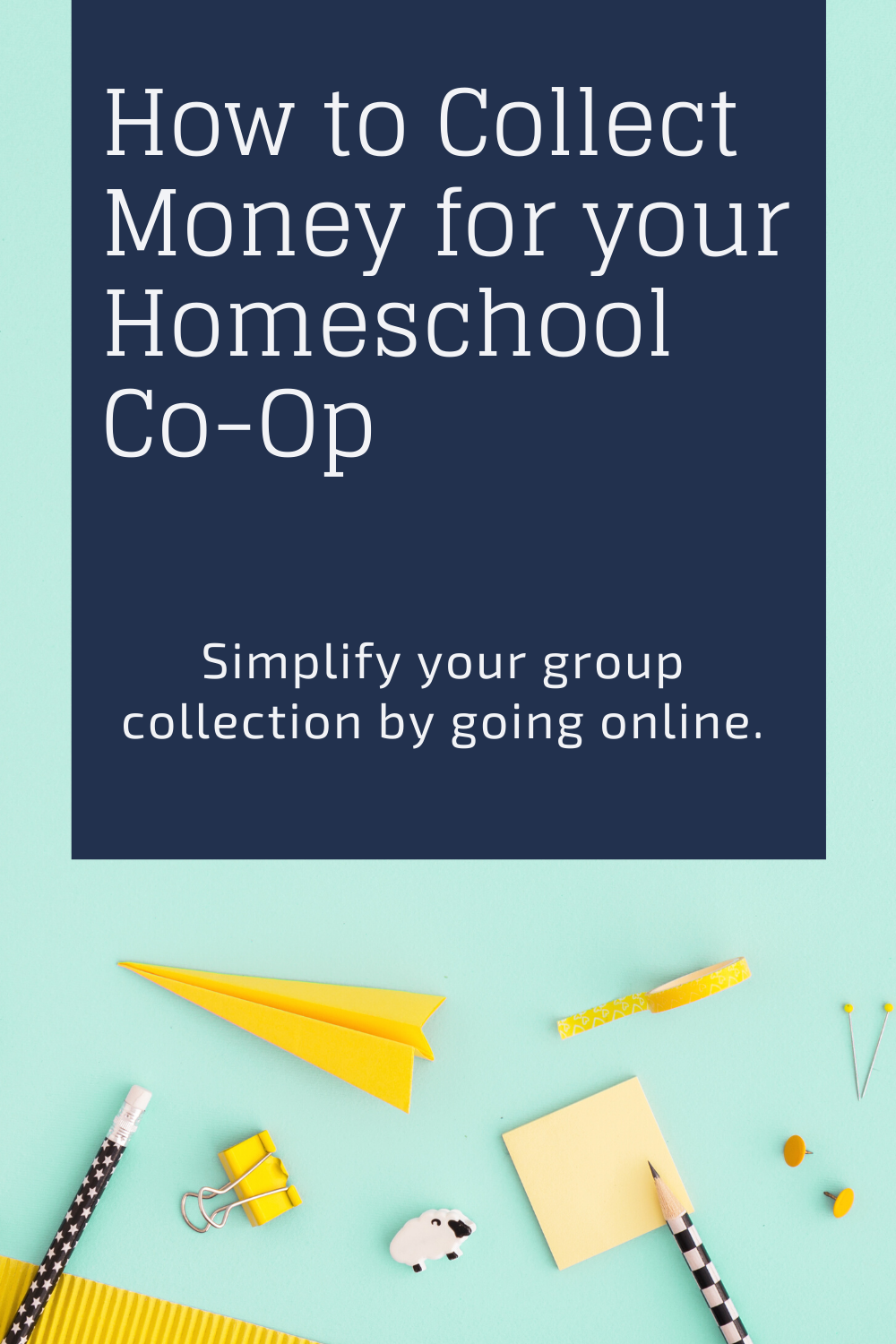 Quickly create an online shop with no set up fee for your homeschool co-op.
