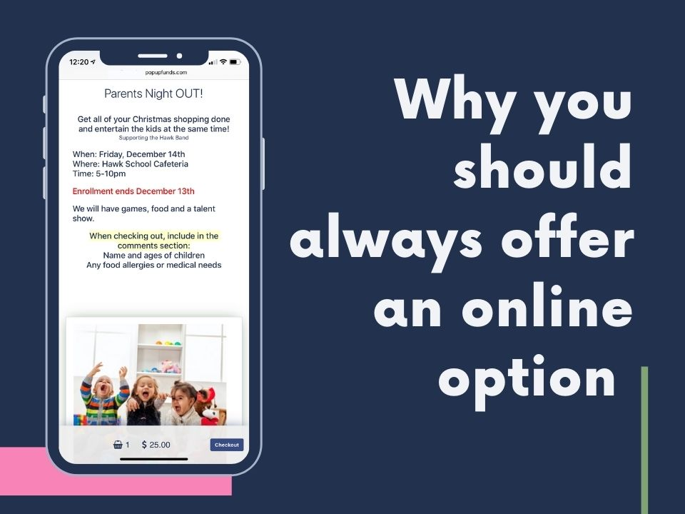 offer an online option